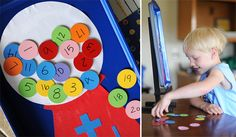 Magnetic fun board - great inside activity! Could be used for so many things!! Numbers, adding and subtracting, spelling games, solar system creation (great to magnetize all those planets and stars we've made).
