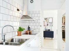 small kitchen design ideas subway tiles black grout galley kitchen