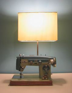 Vintage Upcyled Zig Zag DeLuxe Sewing Machine by AwesomeZone4000, $225.00