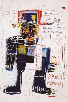 basquiat irony of negro policeman | basquiat irony of the negro policeman 1981