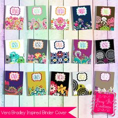 12998a5a453c Vera Bradley Inspired Binder Cover Printable on Etsy