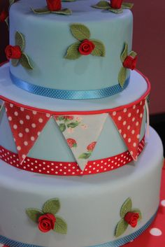 cath kidston cake by Andrias cakes scarborough, via Flickr
