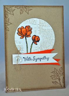 The Stamping Blok: Bloom with Hope Sympathy By Rochelle Blok #rochelleblok #stampinup #blendabilities #bloomwithhope
