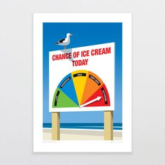 Glenn Jones Art - Print Collection Jan-Apr 2015 on Illustration Served Glenn Jones, Ice Cream Art, Poster Prints, Framed Prints, Graphic Posters, Nz Art, Kiwiana, Freelance Illustrator, All Print