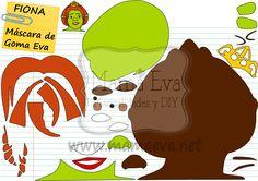 ¿Qué os parece la máscara de Fiona? Tenemos la de Shrek y muchas más en www.mamaeva.net