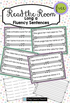 Practice fluency by reading long a vowel words in sentences in this free Read the Room resource. Great for first grade classrooms! Cloze Reading, Reading Fluency, Reading Intervention, Kindergarten Reading, Reading Strategies, Teaching Reading, Guided Reading, Reading Groups, Learning