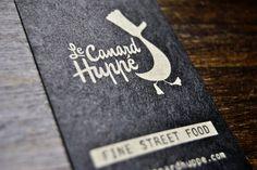 Identité visuelle du Canard huppé — Food Truck à Paris home made — street food