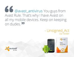 #avast protects your #smartphone with #Android device for #free