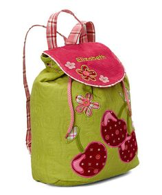 Look what I found on #zulily! Cherry Personalized Backpack #zulilyfinds