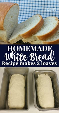 Homemade White Bread Recipe Basic white bread recipe with yeast that makes two loaves. This is an oven bread recipe from scratch can be used as sandwich bread. Includes step by step bread recipe instructions Basic White Bread Recipe, Homemade White Bread, White Bread Recipes, White Bread Machine Recipes, Potato Recipes, Fish Recipes, Asian Recipes, Crockpot Recipes, Chicken Recipes