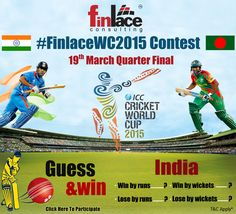#FinlaceWC2015 Contest.... Click the link below to participate & get a chance to win exiting prices..... http://www.finlace.com/iccworldcup.php #finlace #INDvsBAN #CWC15
