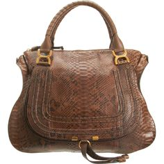 "HELLO come to mama! CHLOÉ Python ""Marcie"" Large Satchel $3,995.00"