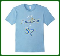 Mens Still Amazing At 87: Happy 87th Birthday Gifts T-Shirt Small Baby Blue - Birthday shirts (*Amazon Partner-Link)