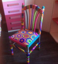 Mi creación silla de crochet