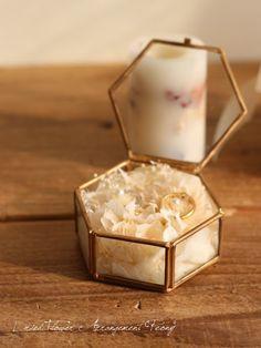 RING PILLOW BOX (六角形) - ドライフラワーリース&アレンジ   Dried Flower Arrangement ''Peony'' ピオニー