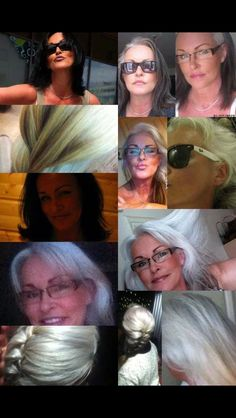 Rhaija's transition. How can anyone not think that silver hair is gorgeous???