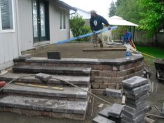 The price of raising a stone paver patio vs building a composite deck turned out to be the least expensive option. Description from boulderfallsinc.com. I searched for this on bing.com/images