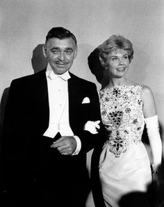 Clark Gable and Doris Day at the 30th annual Academy Awards in 1958. photo provided by mptv images