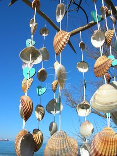 acchiappasogni scacciaspiriti sonagli al vento legno di di H2ONDE [handmade coastal marine seashell seashells driftwood natural wood rustic design modern interior outdoor outside italy italian italia wind chime windchime dream cathcer creacmatcher acchiappasogni sonagli al ventohome decor decoration idea idee regalo gift her him]