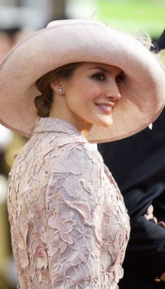 Princess Letizia of Spain, the most elegant guest at the wedding and the most beautiful royal wedding I have ever seen.