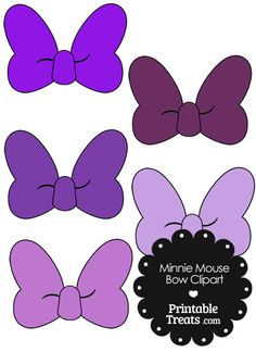 minnie mouse bow clipart in shades of purple from printabletreatscom minnie mouse rosa