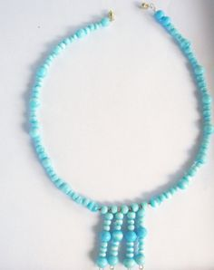 Mar de azul......sea of blue necklace and by reneeoriginals1, $20.00