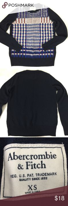 """Aercrombie & Fitch womens size XS sweater. Abercrombie & Fitch size XS. No defects found, good color. Hand wash only.  It's cotton/nylon and viscose.  Measurements: Taken with the item laying flat. Please measure against your wardrobe for accuracy in fit.  Across the bust measuring from underarm to underarm- 19""""  Length measuring from the top of the shoulder near the neck to the bottom- 23.75""""  Sleeves, measuring from the underarm down- 19""""  smoke free home. I have a dog. Open to best…"""