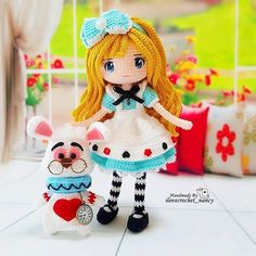 WEBSTA @ilovecrochet_nancy No matter where you go, I will forever put you in my heart Alice in Wonderland and Mr White Rabbit (⑅ ॣ•͈ᴗ•͈ ॣ)∟ᵒᵛᵉ૫૦∪