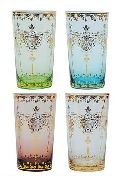 glass or votive with gold foil - Junk GYpSy co.