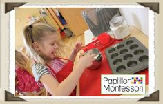 Cooking at Papillion Montessori