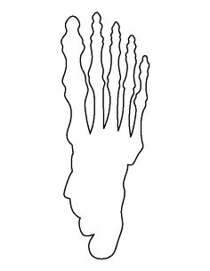 Skeleton Hand Pattern Use The Printable Outline For Crafts Creating Stencils Scrapbooking