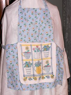 Fun little apron. I usually add a towel for an adult apron but for this little girl's apron I added a nice thick washcloth to always have something to dry her hands on.