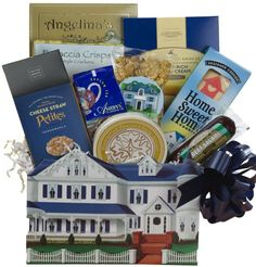 Welcome To Your New Home! Housewarming Gourmet Food Gift Box - http://mygourmetgifts.com/welcome-to-your-new-home-housewarming-gourmet-food-gift-box/