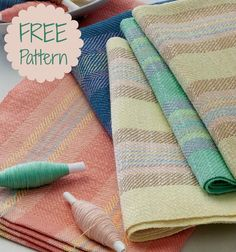 Variegated yarns are wonderful for adding accents to your weaving. Get the instructions for these handwoven towels in this free eBook of beginner weaving projects!