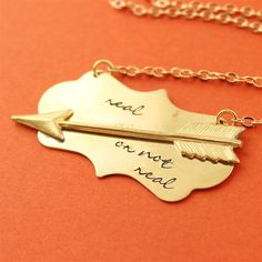 """Hunger Games """"Real or Not Real"""" Necklace - Spiffing Jewelry"""