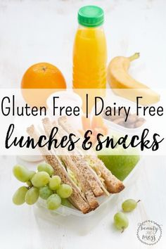 Gluten free and Dairy free Lunches and Snacks