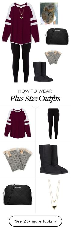 """""""Untitled #897"""" by jackelinhernandez on Polyvore featuring Victoria's Secret PINK, House of Harlow 1960, MICHAEL Michael Kors, UGG Australia and Journee Collection"""