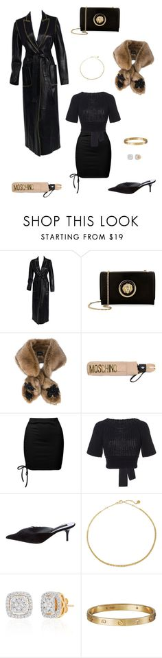 """WINTER ELEGANCE"" by alisuttonak ❤ liked on Polyvore featuring Alexander McQueen, Versus, Simone Rocha, Moschino, Sans Souci, RED Valentino, Christian Lacroix, Belk & Co., Cartier and winterscarf"