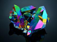 Titanium Aura Crystal Cluster, by Tomas Rak