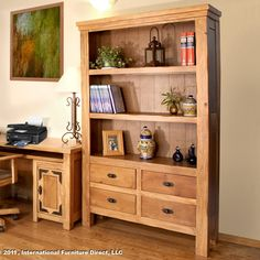 lodge bookcase by artisan home by international furniture - Artisan Home Decor