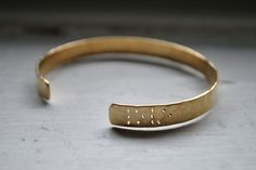 LOVE  Braille Engraved Cuff by LeighLuna on Etsy, $50.00