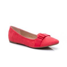 Suede ballerina with bow The elegant ladies' model Ballerina.  Made from high quality ecological suede.  On the nose pretty bow, which adds to the charm.  The high heel is not crease and wipes.  convenient solution to look fashionable and stylish.  Material: ecological suede https://cosmopolitus.eu/product-eng-42681-Suede-ballerina-with-bow.html #feminine #ballerina #with #red #bow #womens #shoes #autumn #shoes