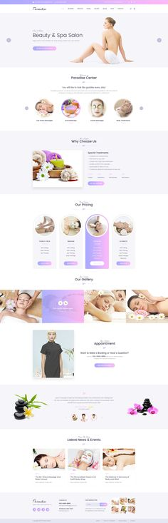 Buy Paradise - Multipurpose Spa & Beauty WordPress Theme by jwsthemes on ThemeForest. Paradise is a stunning, modern and professional WordPress theme. It is orientated to beauty services business like ma. Blog Layout, Website Layout, Web Layout, Layout Design, Website Design Inspiration, Web Design Inspiration, Spa Website, Cv Web, Site Vitrine
