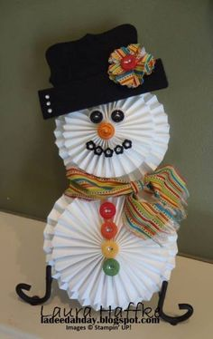 Snowman Rosettes & Buttons
