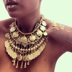 Gold boho bohemian style necklace. For more follow www.pinterest.com/ninayay and stay positively #pinspired #pinspire @ninayay