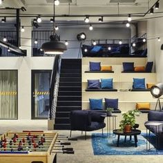 Here are the Modern Office Space Design Ideas. This post about Modern Office Space Design Ideas was posted under the Furniture category by our team at March 2019 at pm. Hope you enjoy it and don't forget to . Cool Office Space, Office Space Design, Office Interior Design, Office Interiors, Office Designs, Cozy Office, Office Fun, Interior Ideas, Design Offices