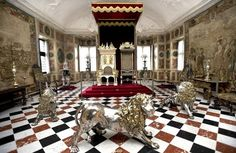 Rosenborg Castle, great hall. Copenhagen