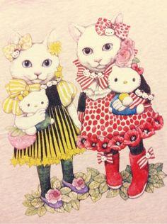「 「UNIQLO×ヒグチユウコ×HELLO KITTY」 Tシャツ 」の画像|Rainbow Poodle ☆ Colorful Diary|Ameba (アメーバ)