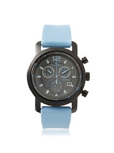 82% OFF Lucien Piccard Unisex 12585-BB-01-BBLAS Toules Light Blue/Black Silicone Watch