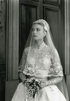 Grace Kelly & Prince Rainier Wedding In Monaco - April 19, 1956.